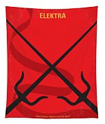No060 My Electra Minimal Movie Poster Tapestry