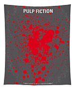 No067 My Pulp Fiction Minimal Movie Poster Tapestry