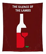 No078 My Silence Of The Lamb Minimal Movie Poster Tapestry