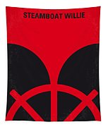 No085 My Steamboat Willie Minimal Movie Poster Tapestry