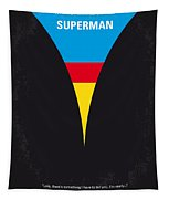 No086 My Superman Minimal Movie Poster Tapestry