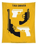 No087 My Taxi Driver Minimal Movie Poster Tapestry