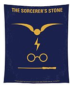 No101-1 My Hp - Sorcerers Stone Minimal Movie Poster Tapestry