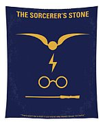 No101 My Harry Potter Minimal Movie Poster Tapestry