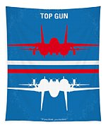No128 My Top Gun Minimal Movie Poster Tapestry