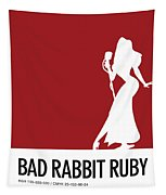 No14 My Minimal Color Code Poster Jessica Rabbit Tapestry