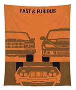 No207-4 My Fast And Furious Minimal Movie Poster Tapestry