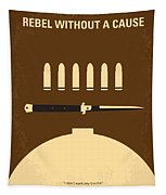 No318 My Rebel Without A Cause Minimal Movie Poster Tapestry
