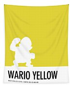 No43 My Minimal Color Code Poster Wario Tapestry
