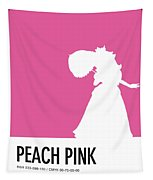 No44 My Minimal Color Code Poster Peach Tapestry
