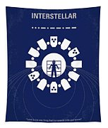 No532 My Interstellar Minimal Movie Poster Tapestry by Chungkong Art