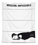 No583 My Mission Impossible Minimal Movie Poster Tapestry