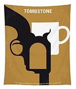 No596 My Tombstone Minimal Movie Poster Tapestry