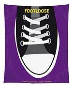 No610 My Footloose Minimal Movie Poster Tapestry