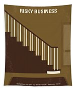No615 My Risky Business Minimal Movie Poster Tapestry