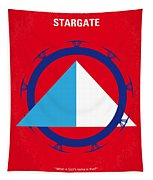 No644 My Stargate Minimal Movie Poster Tapestry by Chungkong Art