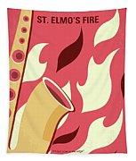 No657 My St Elmos Fire Minimal Movie Poster Tapestry