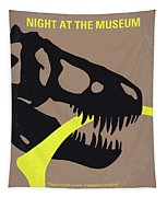 No672 My Night At The Museum Minimal Movie Poster Tapestry