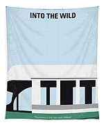 No677 My Into The Wild Minimal Movie Poster Tapestry