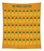 No696 My 50 First Dates Minimal Movie Tapestry by Chungkong Art