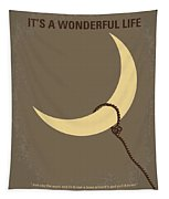 No700 My Its A Wonderful Life Minimal Movie Poster Tapestry