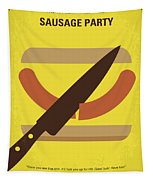 No704 My Sausage Party Minimal Movie Poster Tapestry
