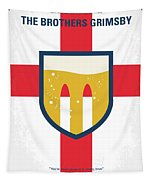 No741 My Grimsby Minimal Movie Poster Tapestry