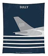 No754 My Sully Minimal Movie Poster Tapestry