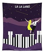 No756 My La La Land Minimal Movie Poster Tapestry