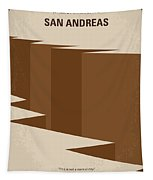 No810 My San Andreas Minimal Movie Poster Tapestry