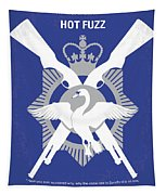 No847 My Hot Fuzz Minimal Movie Poster Tapestry