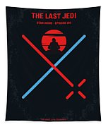 No940 My Star Wars Episode Viii The Last Jedi Minimal Movie Poster Tapestry