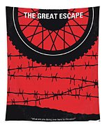 No958 My The Great Escape Minimal Movie Poster Tapestry