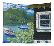Noble Cottage At The Lake Tapestry