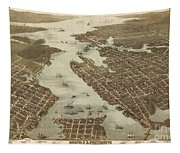 Norfolk And Portsmouth Map Tapestry