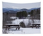 North Conway Winter Mountains Tapestry