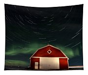Northern Lights Canada Barn Tapestry