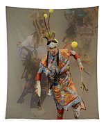 Pow Wow Not Alone Tapestry