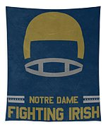 Notre Dame Fighting Irish Vintage Football Art Tapestry