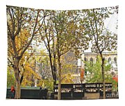 Notre Dame From The Window Tapestry