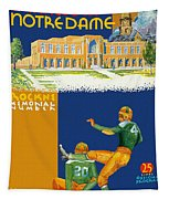 Notre Dame Versus Minnesota 1938 Program Tapestry