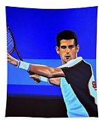 Novak Djokovic Tapestry by Paul Meijering