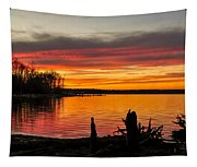 November Sunset Manasquan Reservoir Nj Tapestry