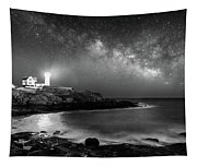 Nubble At Night Tapestry