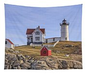 Nubble Lighthouse York Maine Tapestry