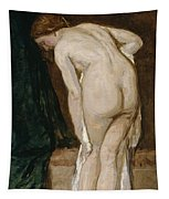 Nude Drying Herself After A Bath Tapestry
