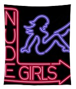 Nude Girls Neon Sign Tapestry