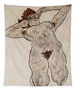 Nude Lying Down Tapestry