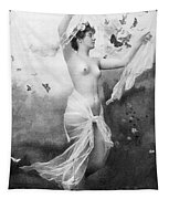 Nude With Butterflies Tapestry
