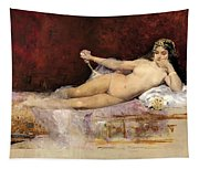 Nude Woman On An Ottoman Tapestry